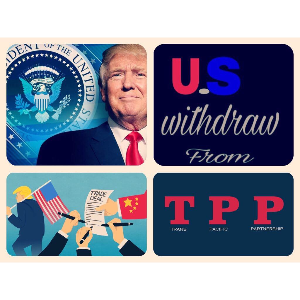 Ο Trump αποσύρει τις Ηνωμένες Πολιτείες από την TPP.
