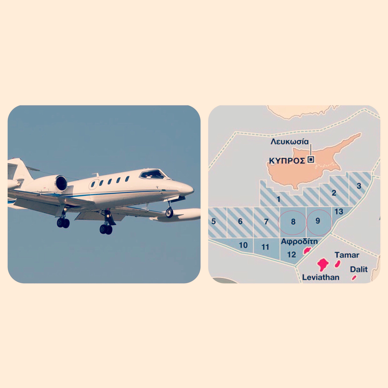 Ιδιωτικό Αεροσκάφος Εκτελεί πτήσεις Πάνω από Κυπριακή ΑΟΖ